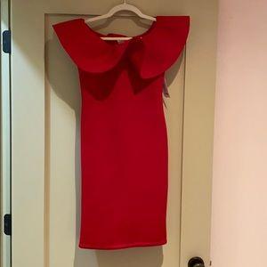 Red Dress Boutique Red Off the Shoulder Dress